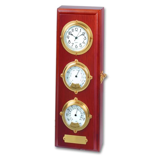 Настенный ящик для ключей с барометром и термометром<br>  (WB-10134PB<br> )