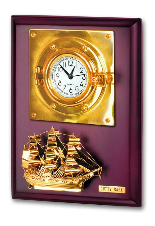 Настенное панно с часами и кораблем<br>  (BTC-67PB<br> )