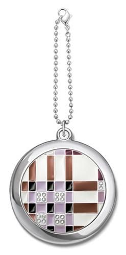 Зеркало косметическое со стразами на цепочке <Ретро-мотив> JARDIN D'ETE (98-0772)