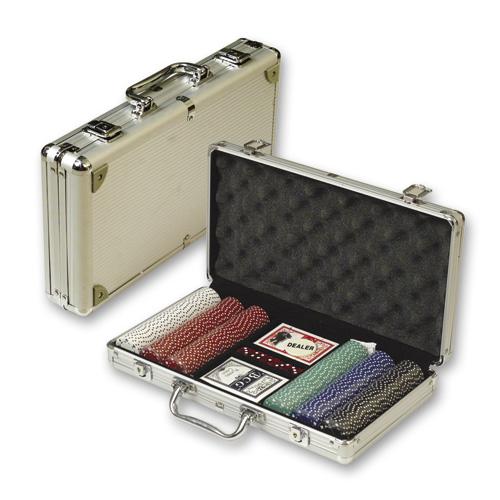 Набор для покера в алюм. кейсе (300 фишек) (DPC-300)