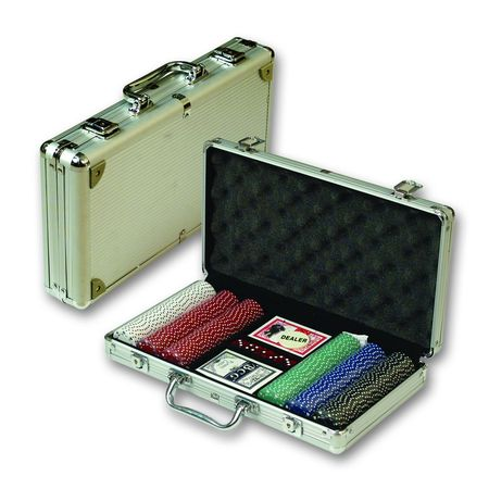 Набор для покера в алюм. кейсе (500 фишек) (DPC-500)
