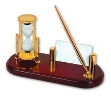 Набор: песочные часы с подставкой для ручки (2,5 мин)<br>  (TM031<br> )