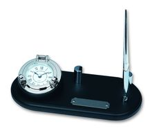 Часы с ручкой на черной деревянной подставке<br>  (MS004C<br> )