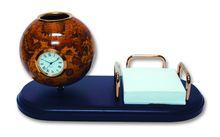 Набор: модель глобуса на деревянной подставке с часами<br>  (GL021<br> )