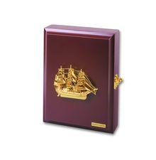 Настенный ящик для ключей с кораблем<br>  (WB-BT-67GP<br> )